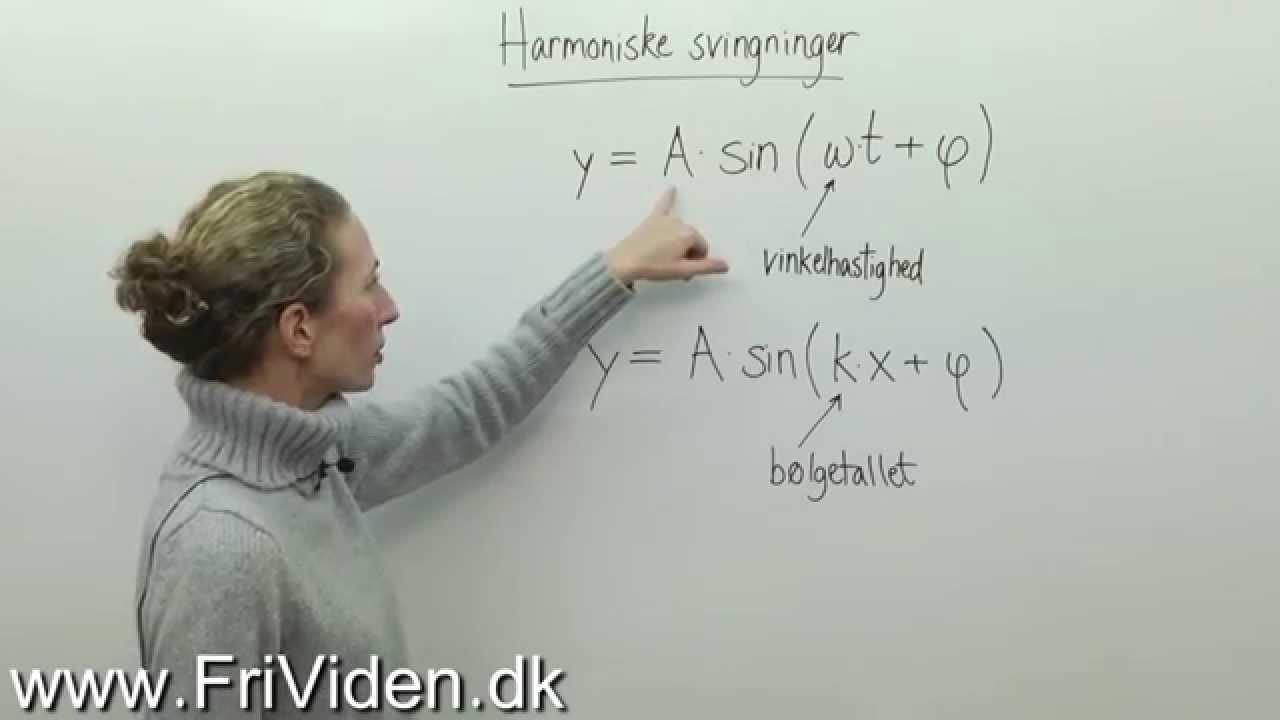 Meget kort om harmoniske svingninger