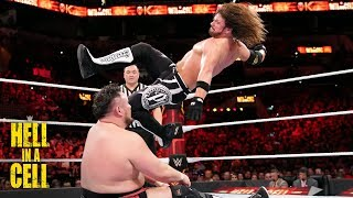 AJ Styles unleashes a barrage of attacks on Samoa Joe: WWE Hell in a Cell 2018 (WWE Network)