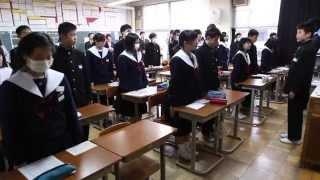 岐阜市内の中学校にてキャリア教育の一環として、出前授業を行いました。