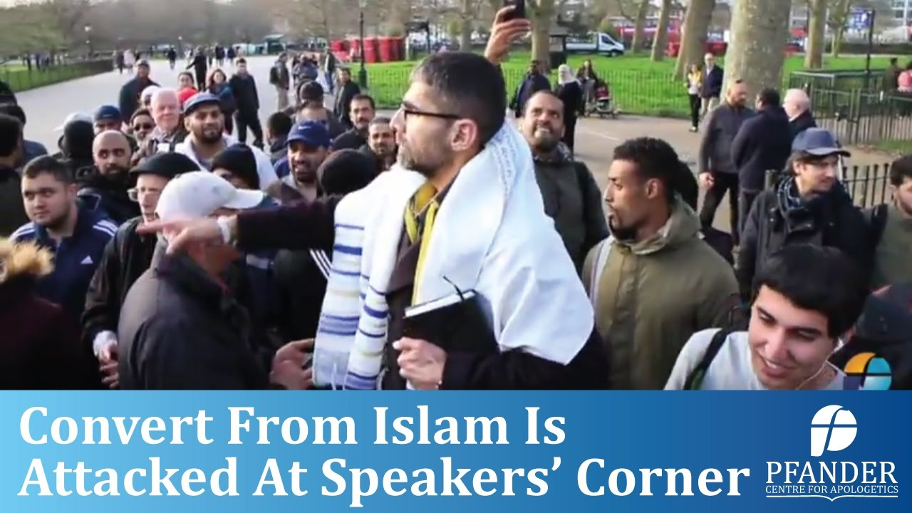 CONVERT FROM ISLAM IS ATTACKED AT SPEAKERS' CORNER