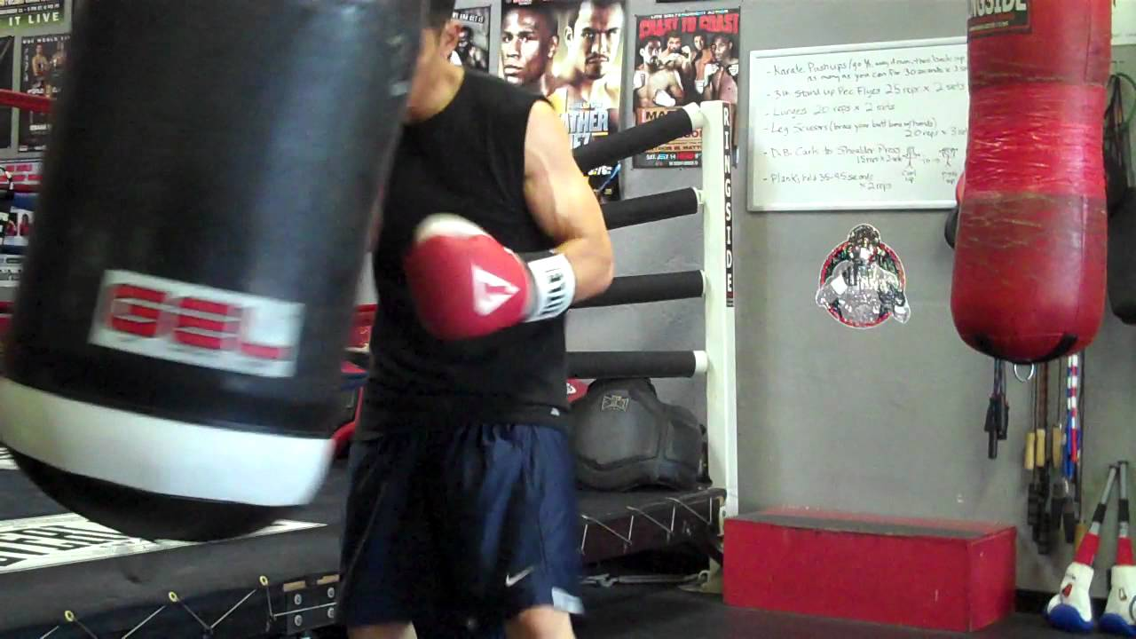 Heavy Bag Work With New Le Gel Gloves