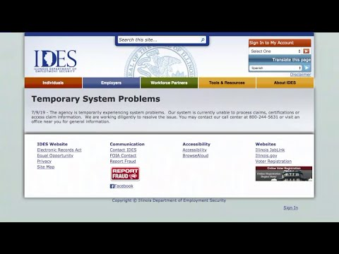 Illinois Residents Unable To File, Certify Unemployment Benefits Due To Computer Failure