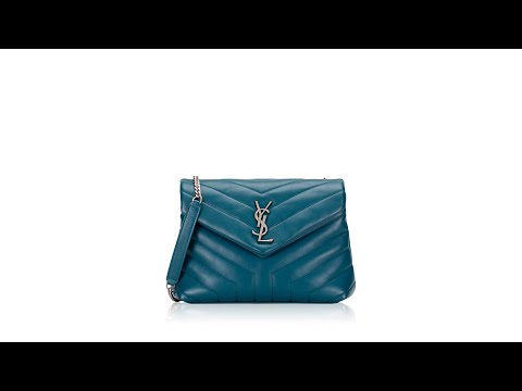 YSL Matelasse Y Loulou Small Chain Bag Dark Green