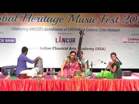 V.Deepika  l Carnatic Vocal  l Global Heritage Music Fest 2017 l Web Streaming