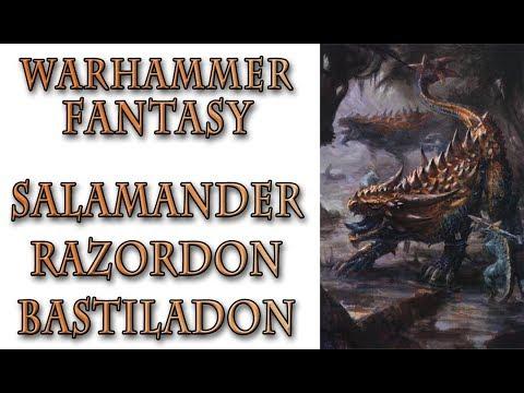 Warhammer Fantasy Lore - Salamander, Razordon, Bastiladon, Lizardmen Lore