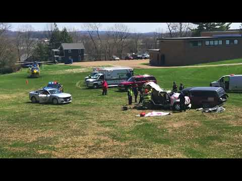 Rittman and Orrville students view mock crash before proms