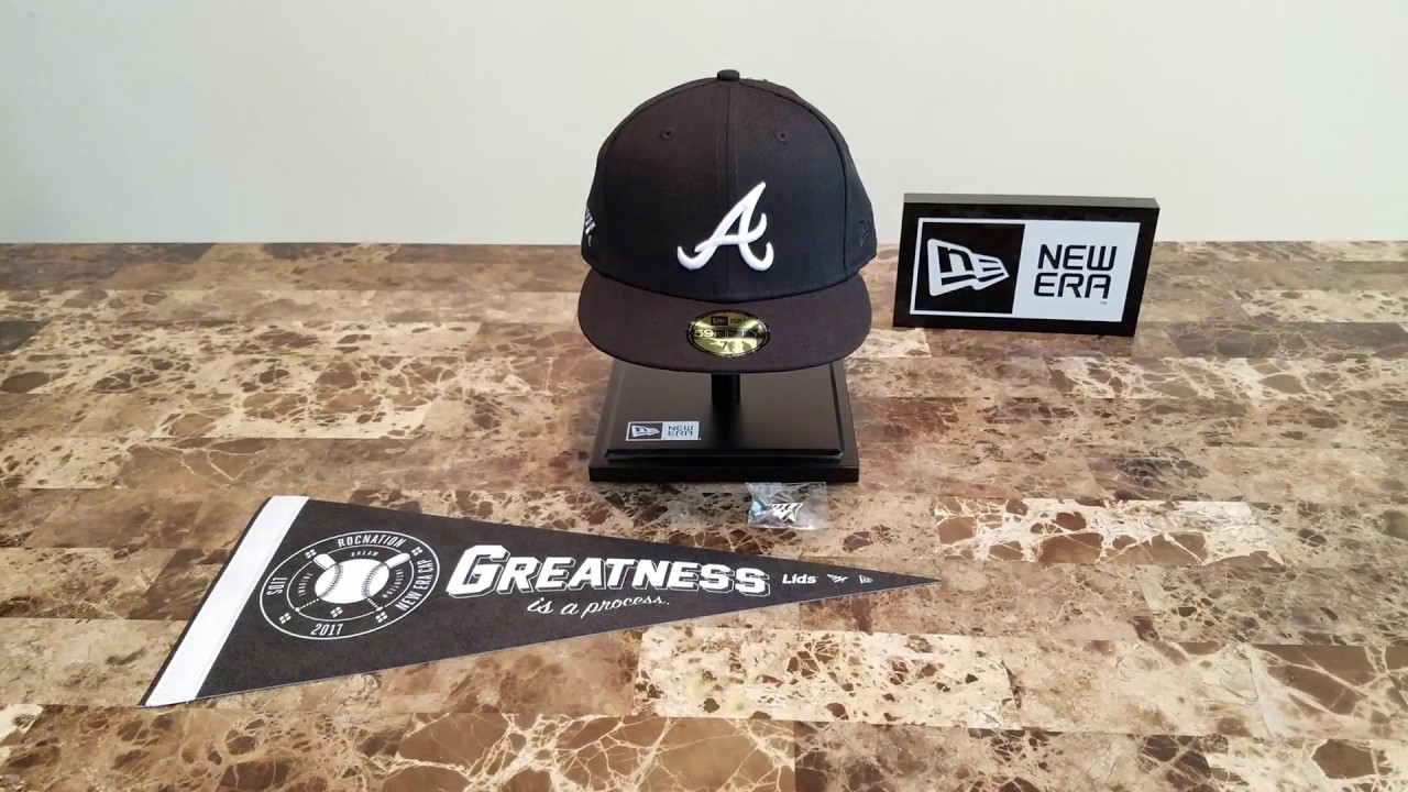 New Era Roc Nation Atlanta Braves Fitted Hat - YouTube 13fe97b6989