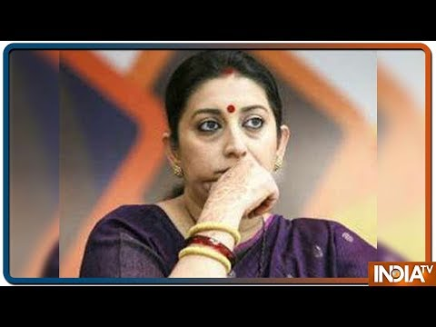 Smriti Irani leaves for Amethi after death of her close aide