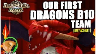 SUMMONERS WAR : Our First Dragons B10 Team (For Beginners)