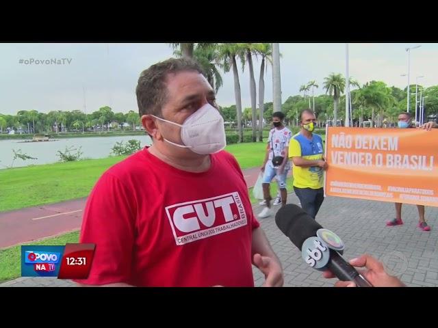 Movimentos sindicais fazem protesto contra privatizações no Centro de João Pessoa- O Povo na TV