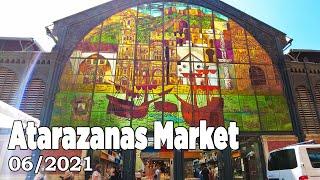 Atarazanas Market Malaga Spain - Walking Tour in June 2021 [4K]