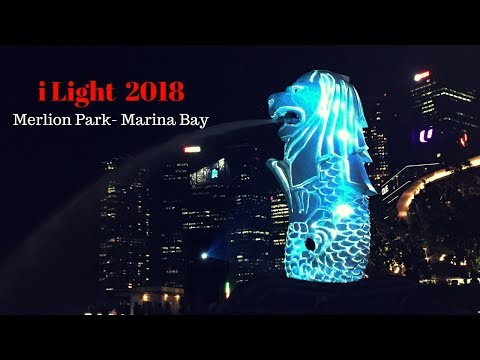 iLight 2018 Merlion Park - Marina Bay Singapore