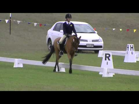 Kate Bailey and Spider - Mount Gambier State Championships 2013 Grade 3 Dressage