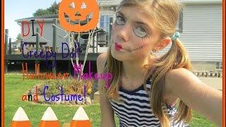 Creepy Doll Halloween Makeup and Costume Thumbnail