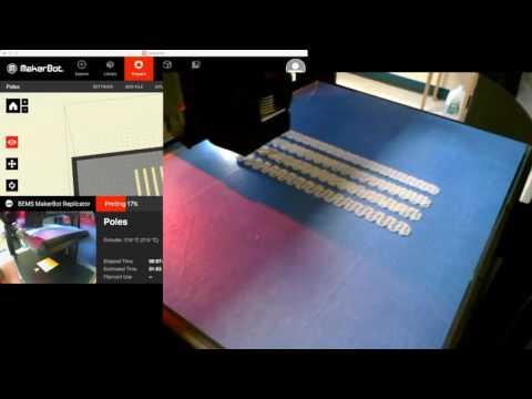Bonny Eagle Middle School Makerbot Replicator #1: 3D String Art Posts