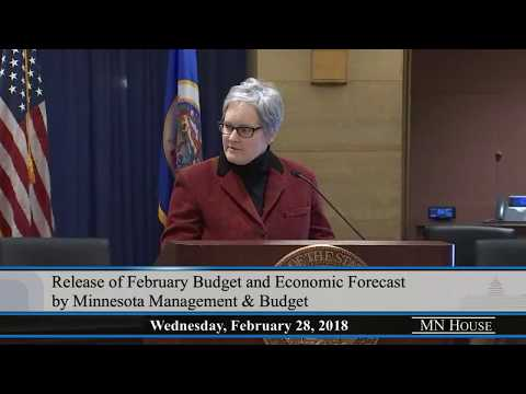 Release of February Budget and Economic Forecast by Minnesota Management and Budget  2/28/18