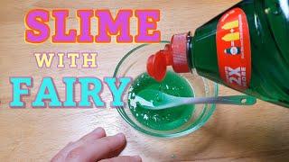 HOW TO DO Dİsh Soap Fairy Liquid And Salt Slime NO BORAX and NO GLUE!