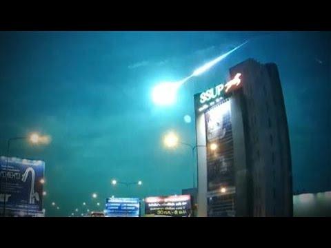Meteor Streaks Across Night Sky In Police Dash Cam Video