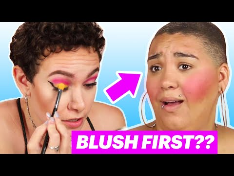 Women Try Doing Their Makeup in Alphabetical Order