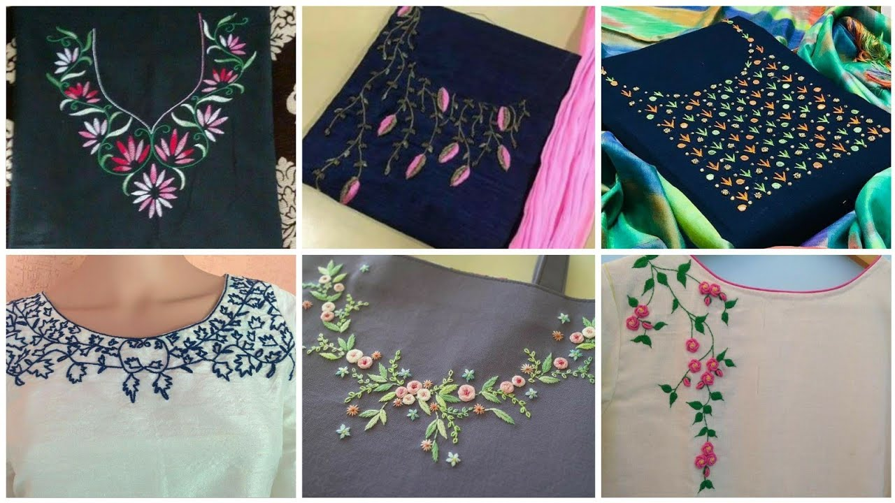 Neckline embroidery designs 20/ neck embroidery design for kurti ...