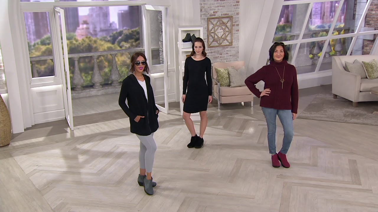 fashion style the cheapest competitive price Skechers Suede Wedge Boots - Parallel on QVC