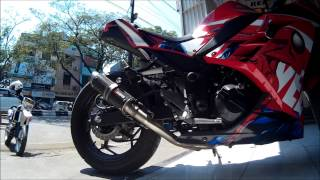 kawasaki ninja 250fi ninja 300 with scorpion rp 1gp full system auto motor