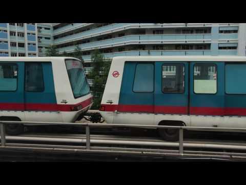 North South Line (SMRT) - Kawasaki Heavy Industries (KHI) C151 - 007/008 - Jurong East to Woodlands