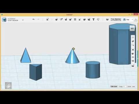 123D Design Tutorial - Basics 1/6 - Introducing the Workspace