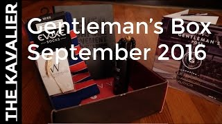 First Delivery - Gentleman's Box September 2016 | Unboxing and Review