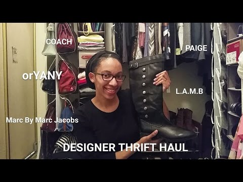 LARGE Designer Thrift Haul: Coach, Marc Jacobs, orYany