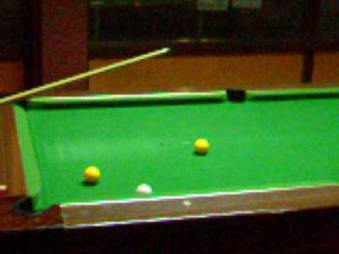 One of the last ever games of pool in the Biko bar (2/9/2005)
