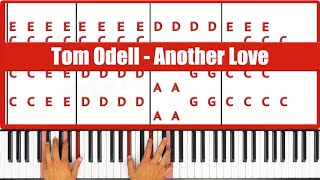 Repeat youtube video ♫ EASY - How To Play Another Love Tom Odell Piano Tutorial Lesson - PGN Piano