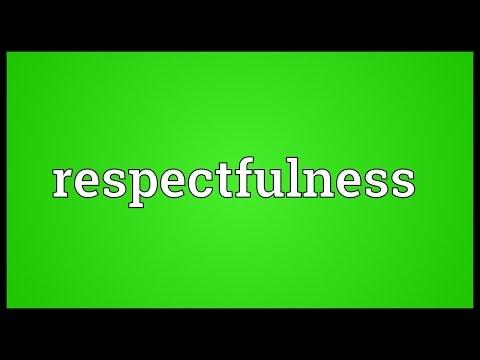 Header of respectfulness