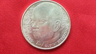Germany 5 Mark 1978 - 100th Anniversary - Birth of Gustav Stresemann