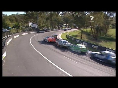 Bathurst 2008: Warren Luff taps Craig Baird into wall