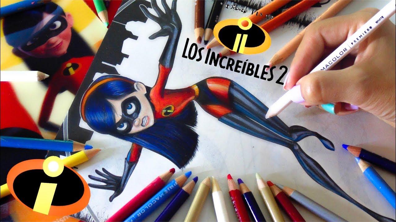 Como Colorear A Violeta Libro Para Colorear Los Increibles 2disney Pixar Vane V Art
