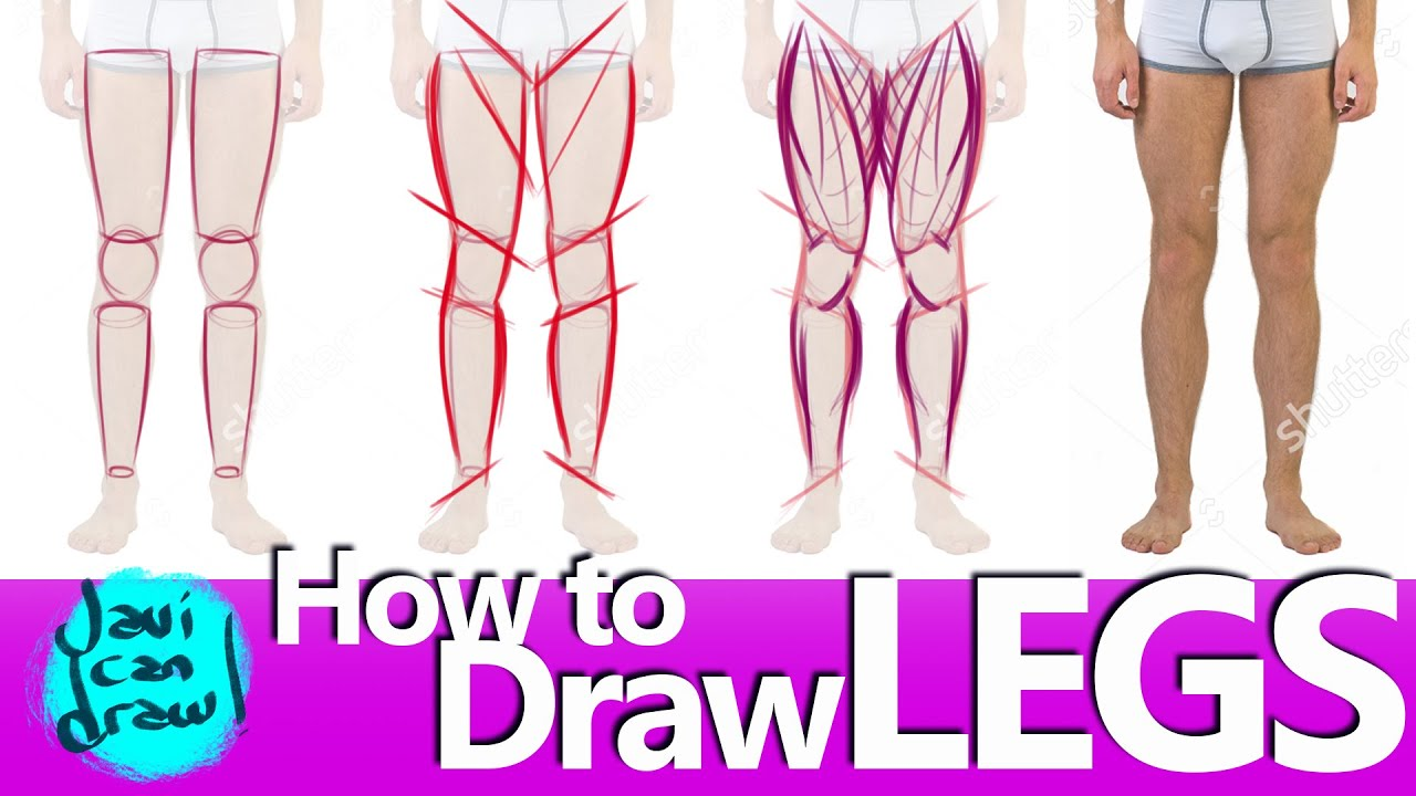 STEP BY STEP OF HOW TO DRAW LEGS - YouTube