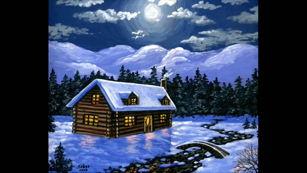 acrylic paint on canvas art painting the house and snow youtube