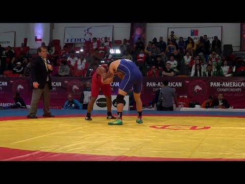 1/8 FS - 74 kg: Cristian ANGIANO (MEX) df. Wilson MEDINA (ARG), 8-2