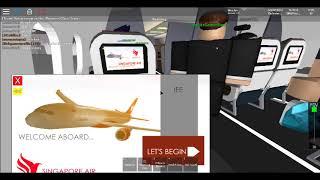 ROBLOX Airline Ride - Singapore Air A350 Singapore-Maldives (Part 1)