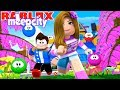 ROBLOX Little Leah Plays - MY BABY MEEP ATTACKED ME - ESCAPE MEEP CITY OBBY!!