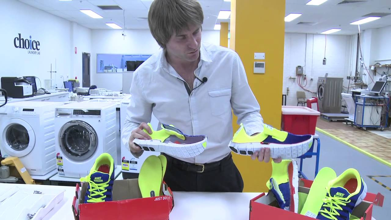 03aa9557 Spot the fake! Counterfeit shoes & goods revealed - CHOICE - YouTube