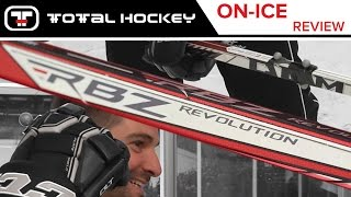 ccm rbz revolution stick on ice review with ryan from ccm montreal
