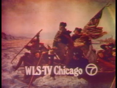 WLS Channel 7 - Ending of Saturday Night Movie, Reflections and Station Sign-Off (1977)
