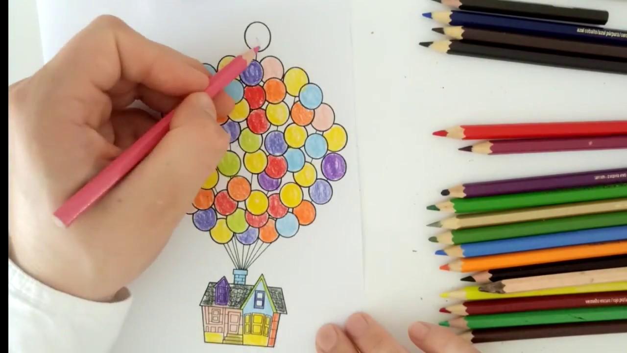 Yukarı Bak çizgi Film Serisi Uçan Ev Boyama Oyunu Youtube