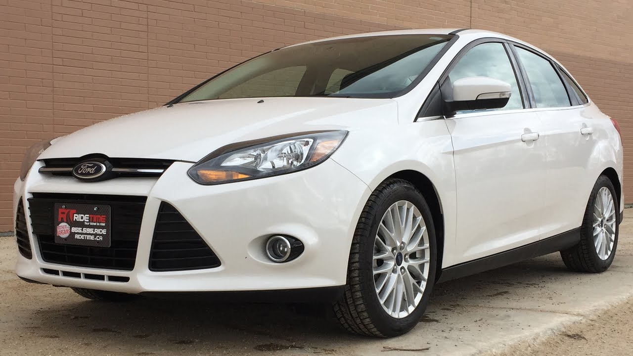 2014 ford focus titanium sedan luxury group w leather sunroof nav backup camera huge. Black Bedroom Furniture Sets. Home Design Ideas