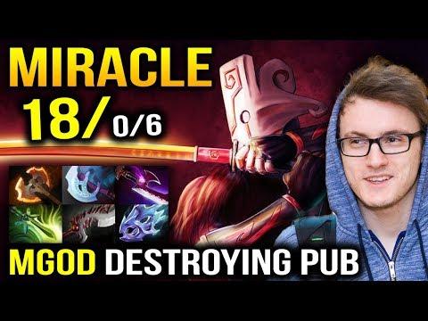 Miracle Juggernaut + Lina - M-god is Destroying Pub Dota 2 thumbnail