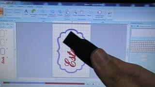 Como colocar nome dentro de uma matriz de moldura