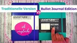 Leuchtturm 1917 Bullet Journal Edition vs. Reguläres Notizbuch | Vergleich (2018)