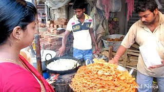 Indian Street Food - Jalebi, Pani Puri, Pakora, Papad, Ghugni, Ice Cream || Food Ninja